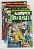Bronze Age (1970-1979):Horror, Frankenstein #1-5 Group (Marvel, 1973) Condition: Average VG.Artists include Mike Ploog. Overstreet 2004 value for group = ...(Total: 5 Comic Books Item)