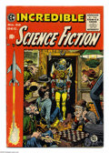 Golden Age (1938-1955):Science Fiction, Incredible Science Fiction #32 (EC, 1955) Condition: FN+. JackDavis cover. Davis, Al Williamson, Bernard Krigstein, and Roy...