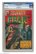 Golden Age (1938-1955):Horror, Journey Into Fear #13 Bethlehem pedigree (Superior, 1953) CGC VF-7.5 Off-white pages. This comic promises cults, vampires, ...