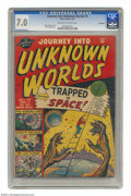 Golden Age (1938-1955):Science Fiction, Journey Into Unknown Worlds #5 Bethlehem pedigree (Atlas, 1951) CGCFN/VF 7.0 Cream to off-white pages. Mike Sekowsky art. O...