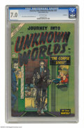 Golden Age (1938-1955):Horror, Journey Into Unknown Worlds #28 Bethlehem pedigree (Atlas) CGCFN/VF 7.0 Off-white pages. Tied with one other copy for highe...