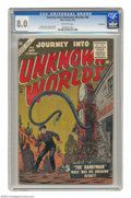Silver Age (1956-1969):Horror, Journey Into Unknown Worlds #48 Bethlehem pedigree (Atlas) CGC VF8.0 Off-white pages. Looks like gas prices are tough all o...