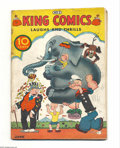 Platinum Age (1897-1937):Miscellaneous, King Comics #3 (David McKay Publications, 1936) Condition: GD.Featuring Popeye. Three-inch spine split, cover detached. Ove...