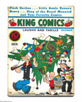 Platinum Age (1897-1937):Miscellaneous, King Comics #9 (David McKay Publications, 1936) Condition: VG.Christmas cover. Featuring Popeye. Overstreet 2004 VG 4.0 val...