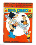 Platinum Age (1897-1937):Miscellaneous, King Comics #13 (David McKay Publications, 1937) Condition: GD/VG. Featuring Popeye. One-inch spine split top. Overstreet 20...