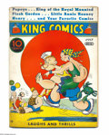 Platinum Age (1897-1937):Miscellaneous, King Comics #16 (David McKay Publications, 1937) Condition: VG-. Featuring Popeye. Cover detached from bottom staple. Overst...