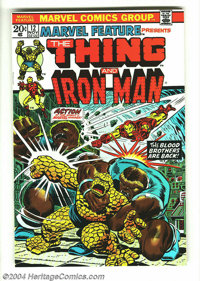 Marvel Feature #12 (Marvel, 1973) Condition: NM. Features The Thing and Iron Man. Early Thanos appearance. Jim Starlin c...