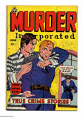 Golden Age (1938-1955):Romance, Murder Incorporated 5 (second series) (Fox Features Syndicate,1950) Condition: VG. Considered #1 of the second series, form...