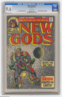 The New Gods #1 (DC, 1971) CGC NM+ 9.6 White pages. First appearances of Orion, Lightray, Metron, Highfather, and Kaliba...