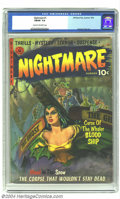 Golden Age (1938-1955):Horror, Nightmare #1 (St. John, 1952) CGC FN/VF 7.0 Cream to off-whitepages. George Tuska art. Overstreet 2004 FN 6.0 value = $165;...