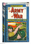 Silver Age (1956-1969):War, Our Army at War #147 (DC, 1964) Condition: VF/NM. Joe Kubert cover and art. Overstreet 2004 VF/NM 9.0 value = $85; NM- 9.2 v...