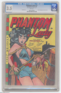 Phantom Lady #17 (Fox Features Syndicate, 1948) CGC VG- 3.5 Pink pages. This might be the hottest, sexiest, most smolder...