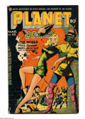 Golden Age (1938-1955):Science Fiction, Planet Comics #35 (Fiction House, 1945) Condition: VG+. Mysta ofthe Moon begins. Lily Renee cover. Renee, Murphy Anderson, ...