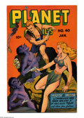 Golden Age (1938-1955):Science Fiction, Planet Comics #40 (Fiction House, 1946) Condition: FN+. Joe Doolincover. Lily Renee, Murphy Anderson, Lee Elias, and Fran H...