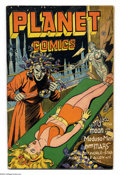 "Golden Age (1938-1955):Science Fiction, Planet Comics #41 (Fiction House, 1946) Condition: VG/FN. Neworigin of ""Auro, Lord of Jupiter"". Lily Renee, Joe Doolin, Aug..."