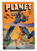Golden Age (1938-1955):Science Fiction, Planet Comics #48 (Fiction House, 1947) Condition: FN. Robot cover.Lily Renee, Rafael Astarita, George Evans, Frank Doyle, ...
