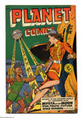 Golden Age (1938-1955):Science Fiction, Planet Comics #59 (Fiction House, 1949) Condition: FN+. Joe Doolin cover. Doolin, George Evans, Joe Cavallo, Leonard Starr, ...