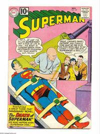 """Superman #149 (DC, 1961) Condition: VG-. Eighth Legion appearance in cameo. """"The Death of Superman"""" imaginary..."""