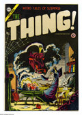 "Golden Age (1938-1955):Horror, The Thing! #17 (Charlton, 1954) Condition: VF-. Contains theclassic parody ""Through the Looking Glass"". Also reprints Bew..."