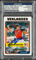 Autographs:Sports Cards, Signed 2005 Topps Update & Highlights Justin Verlander #UH220 PSA/DNA Authentic. ...
