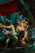 Paintings, Norman Saunders (American, 1907-1989). Orchid of Doom, Ten Story Detective magazine cover, April 1948. Oil on board . 22...