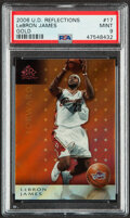 Basketball Cards:Singles (1980-Now), 2006 Upper Deck Reflections LeBron James #17 (Gold) PSA Mint 9....