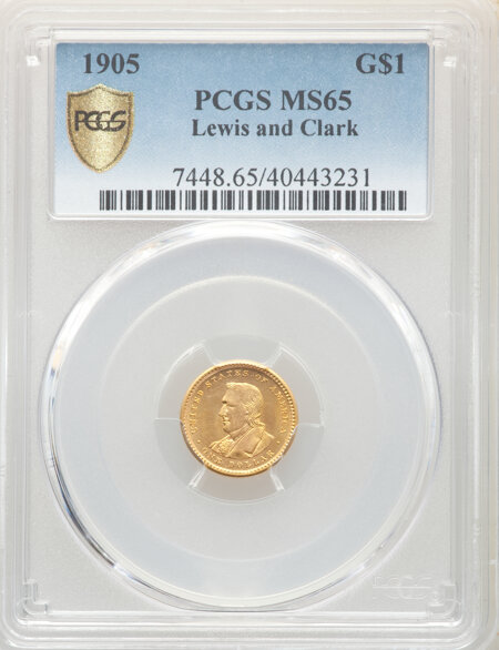 1905 G$1 Lewis and Clark, MS PCGS Secure 65 PCGS