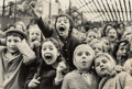 Photographs, Alfred Eisenstaedt (American, 1898-1995). Children at a Puppet Theatre, Paris, 1963. Gelatin silver, 1990. 14-1/4 x 21-1...