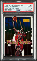 Basketball Cards:Singles (1980-Now), 1998 Skybox Soul Of The Game Michael Jordan #1 PSA Mint 9....