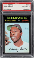 Baseball Cards:Singles (1970-Now), 1971 Topps Hank Aaron #400 PSA NM-MT 8. Offered is...
