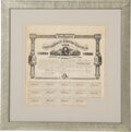 Miscellaneous, Confederate States of America $500 Bond Signed by Robert Tyler....