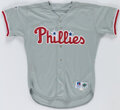 Baseball Collectibles:Uniforms, 1995 Larry Bowa Game Used Philadelphia Phillies Jersey. ...