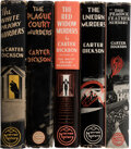 Books:Mystery & Detective Fiction, [John Dickson Carr] Carter Dickson, pseudonym. Group of Five Carter Dickson Mysteries. New York: William Morrow and Company,... (Total: 5 Items)