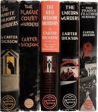 [John Dickson Carr] Carter Dickson, pseudonym. Group of Five Carter Dickson Mysteries. New York: William Morrow and C