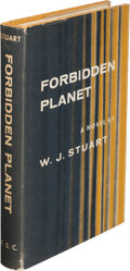 Books:Science Fiction & Fantasy, W. J. Stuart [pseudonym of Philip MacDonald] . Forbidden Planet. New York: Farrar, Straus and Company, [1956]. First...