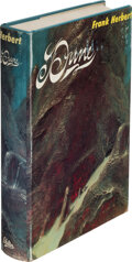 Books:Science Fiction & Fantasy, Frank Herbert. Dune. Philadelphia and New York: Chilton Books, [1965]. First edition, review copy with slip laid in....