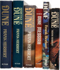 Books:Science Fiction & Fantasy, Frank Herbert. Six-volume Dune series, each signed.... (Total: 6 )