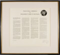 Autographs:U.S. Presidents, John F. Kennedy Printed Inaugural Address Inscribed and Signed ...