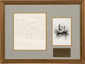 Autographs:Military Figures, Robert E. Lee Autograph Letter Signed ...