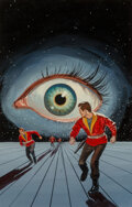 Paintings, Ed Valigursky (American, 1926-2009). Eye in the Sky paperback cover, 1957. Oil on board . 18 x 11-3/8 inches (45.7 x 28....
