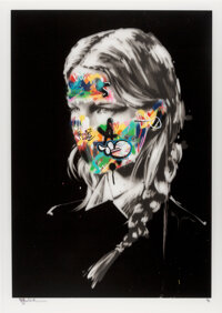 Sandra Chevrier X Martin Whatson The Cage of Two Souls, 2016 Screenprint in colors with spray paint