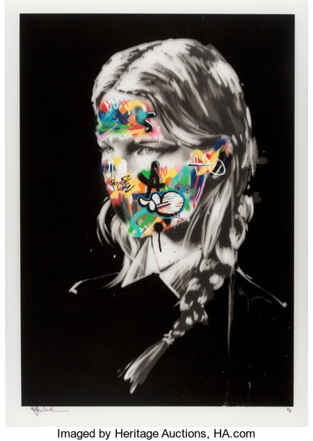 Sandra Chevrier X Martin Whatson The Cage of Two Souls, 2016 Screenprint in colors with spray paint and acrylic hand-e...