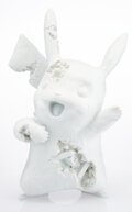 Collectible, Daniel Arsham X Nintendo. Blue Crystalized Pikachu, 2020. Cast resin with aluminum oxide. 13 x 8-1/2 x 5-7/8 inches (33 ...