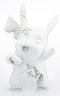 Daniel Arsham X Nintendo Blue Crystalized Pikachu, 2020 Cast resin with aluminum oxide 13 x 8-1/2