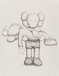 KAWS X NGV Companionship in the Age of Loneliness, 2019 Hardcover book with print 16-3/4 x 13-1/2