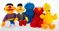 Collectible, KAWS X Sesame Street. Set of Five Toys, 2018. Plush toys. 19-1/2 x 12 x 5-1/2 inches (49.5 x 30.5 x 14 cm) (each). Open ... (Total: 5 Items)