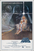 """Movie Posters:Science Fiction, Star Wars (20th Century Fox, 1977). Folded, Very Fine+. Fourth Printing One Sheet (27"""" X 41"""") Style A, Tom Jung Artwork. Sci..."""