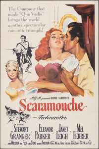 """Scaramouche (MGM, 1952). Folded, Very Fine. One Sheet (27"""" X 41""""). Swashbuckler"""
