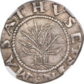 1652 SHILNG Oak Tree Shilling, IN at Bottom -- Scratches -- NGC Details. AU. Noe-9, W-500, Salmon 7-E, R.5....(PCGS# 453...