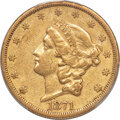Liberty Double Eagles, 1871-CC $20 XF40 PCGS. Variety 2-A,...